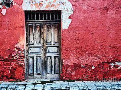 Antigua Door  Poster