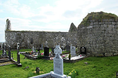 Poster featuring the photograph Antigua Iglesia De Killinaboy, Ireland by Marie Leslie