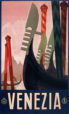 1928 Venice Italy Travel Poster Poster