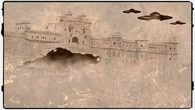 Antique Aliens By Raphael Terra Poster by Raphael Terra