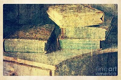 Antique Books Still Life Poster by Heiko Koehrer-Wagner