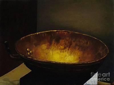 Antique Brass Bowl Poster by Mitzisan Art LLC
