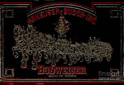Antique Bud Mirror Poster by Al Bourassa