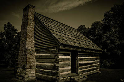 Poster featuring the photograph Antique Cabin - The Hermitage by James L Bartlett
