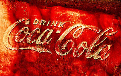 Antique Coca-cola Cooler Poster
