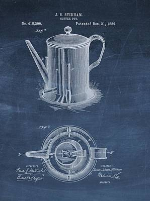 Antique Coffee Pot Patent Poster by Dan Sproul