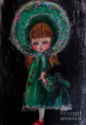 Antique Doll Poster by Akiko Okabe