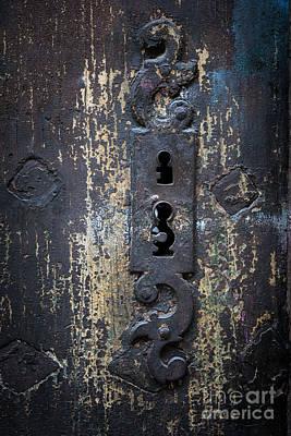 Antique Door Lock Detail Poster