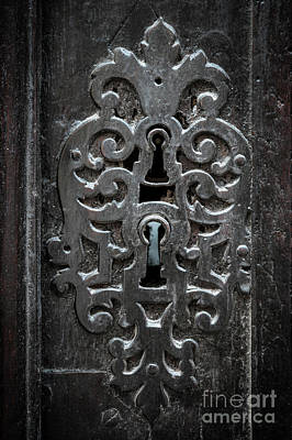 Antique Door Lock Poster by Elena Elisseeva