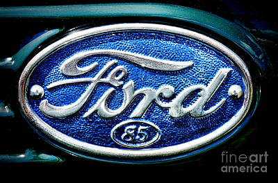 Antique Ford Badge Poster