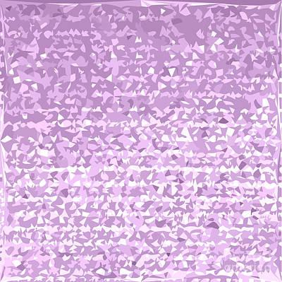 Antique Fuschia Camo Abstract Low Polygon Background Poster by Aloysius Patrimonio