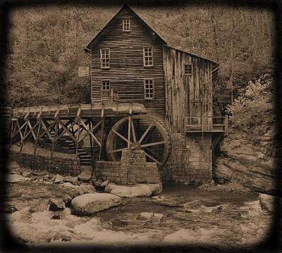 Antique Glade Creek Grist Mill Poster by Dan Sproul