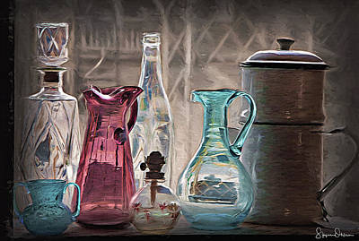 Antique Glassware - Signed Limited Edition Poster by Steve Ohlsen