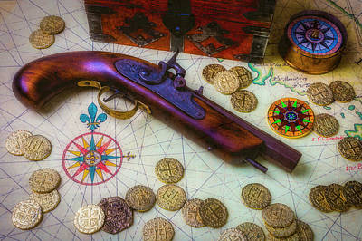 Antique Gun And Treasure Poster