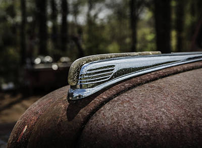 Poster featuring the photograph Antique Hood Ornament by Kim Hojnacki