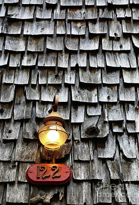 Antique Lamp And Wooden Tiles Frederick Maryland Poster