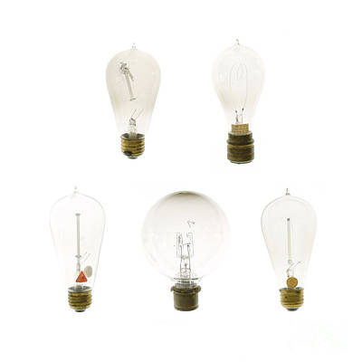 Antique Lightbulbs Poster by Jennifer Booher
