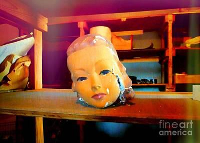Antique Mannequin Head In Old Storage Room Poster