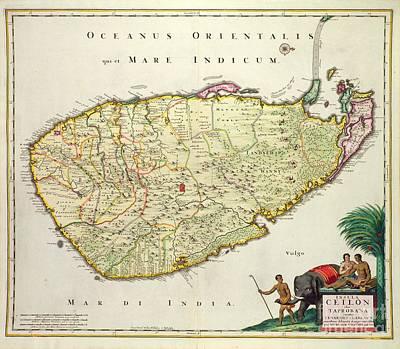Antique Map Of Ceylon Poster