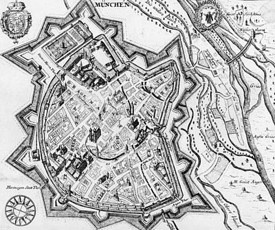 Antique Map Of Munich Poster