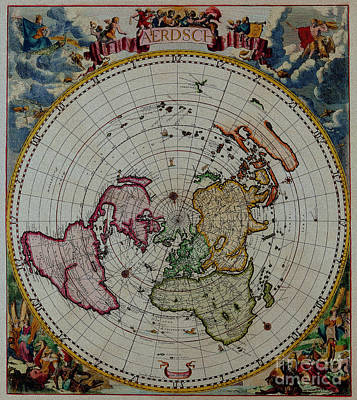 Antique Map Vintage Very Stylish Piece Poster by R Muirhead Art
