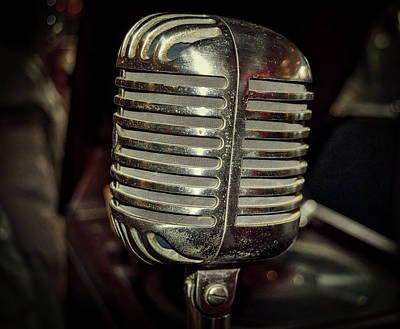 Antique Microphone Poster by Paul Brennan