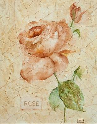 Antique Rose Poster by Debbie Lewis