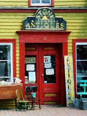 Antique Shop With Two Chairs Poster