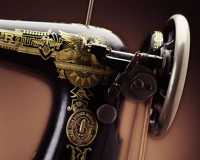 Antique Singer Sewing Machine 4 Poster