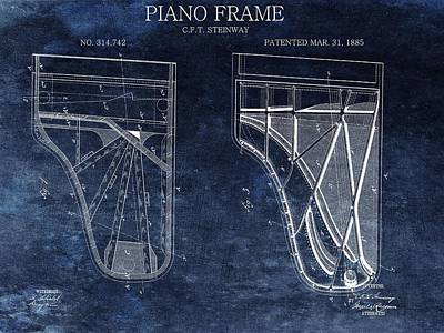 Antique Steinway Piano Patent Poster