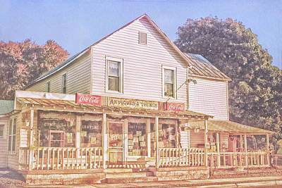 Antique Store, Colonial Beach Virginia Poster