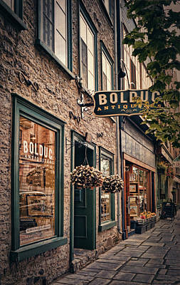 Antique Store - Rue Saint- Paul - Quebec City Poster by Maria Angelica Maira