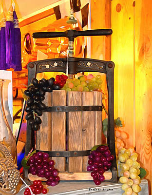 Antique Store Wine Press 2 Poster