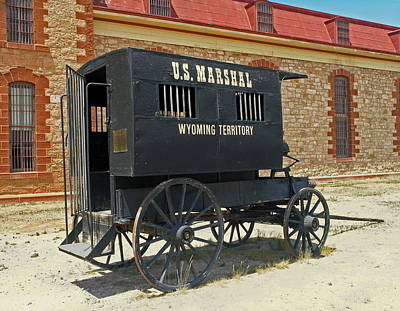 Antique U.s Marshalls Wagon Poster by Sally Weigand