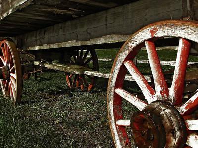 Antique Wagon Wheels Poster by Scott Hovind