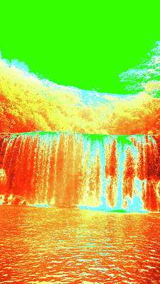 Antique Waterfall Poster by Erika Swartzkopf