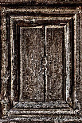 Antique Wood Door Panel Poster