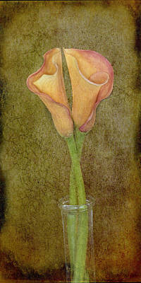 Antiqued Lilies Poster