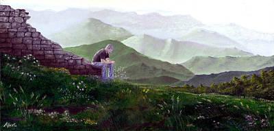 Antonio Atop La Rocca De Monte Calvo Poster by Albert Puskaric
