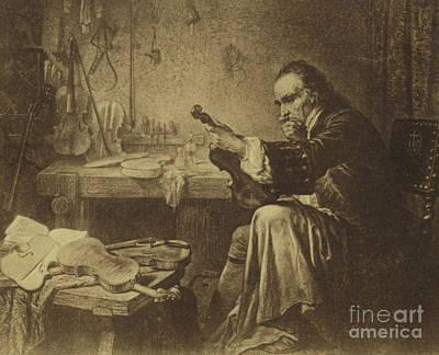 Antonio Stradivari Poster by Italian School