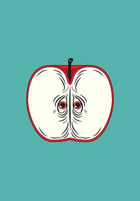 Anxiety Apple Poster by Nicholas Ely