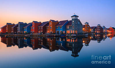 Any Colour You Like - Reitdiephaven - Netherlands Poster by Henk Meijer Photography