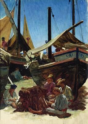 Anzio The Port Poster by Antoine Auguste Ernest Hebert