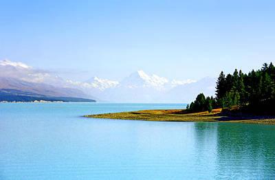Aoraki And Lake Pukaki Poster by Kevin Smith