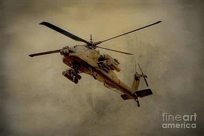 Apache Desert Takoff Poster by Randy Steele