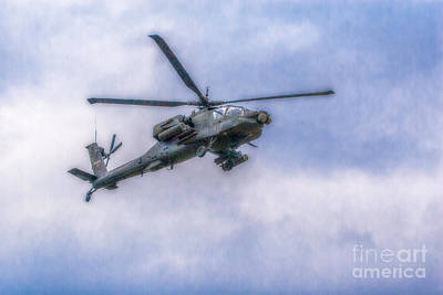 Apache Helicopter In Flight Three Poster
