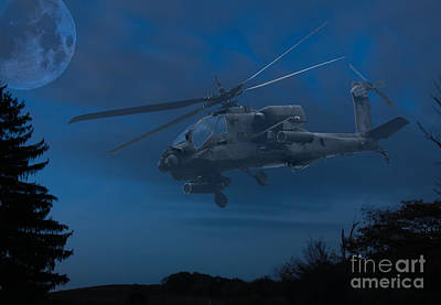 Apache Night Poster