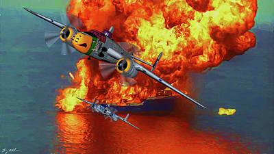 Apache Strike - Oil Poster