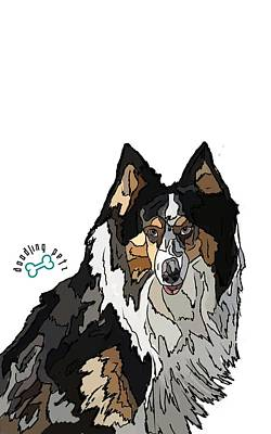 Apache The Collie Poster by Doodling  Petz
