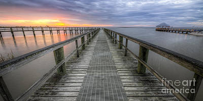 Apalachicola Boardwalk 2x1 Panorama Poster